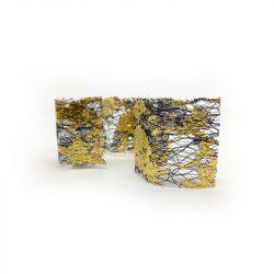 Transzferfólia 1db - arany - fekete 02